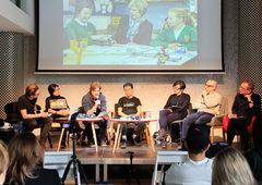 "Panel ""Stop Making Sense"". Speakers: Kim Albrecht, Winnie Soon, Anders Visti, Paweł Janicki, SIAF Lab (Akihiro Kubota & Kei Komachiya), moderated by Geoff Cox."