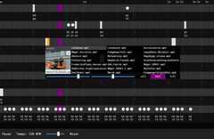 AaUOS, Aarhus Urban Operating System. Sequencer screen shot. New Aarch