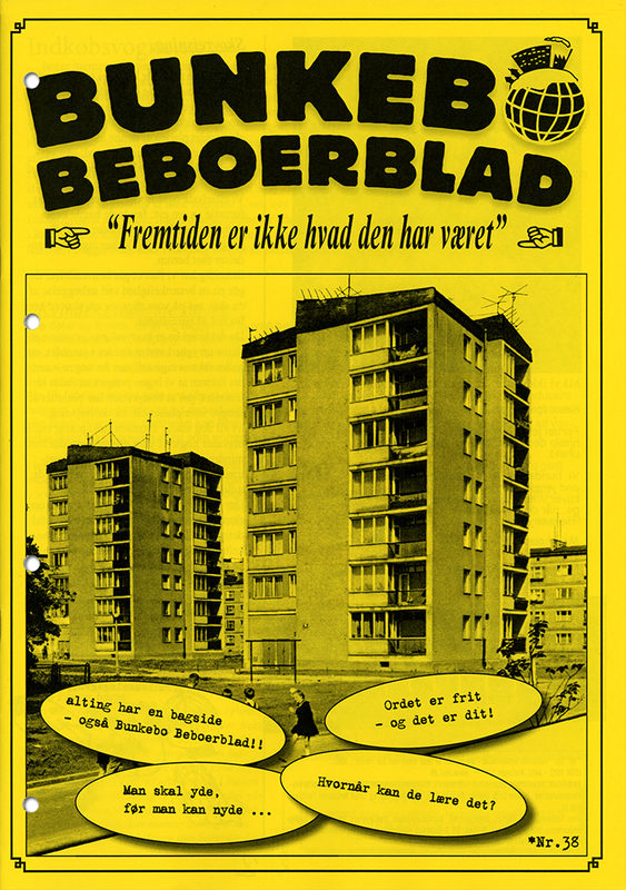 """* [asterisk] nr. 38, """"Bunkebo Beboerblad"""". Anders Visti, Lasse Krog Møller"""