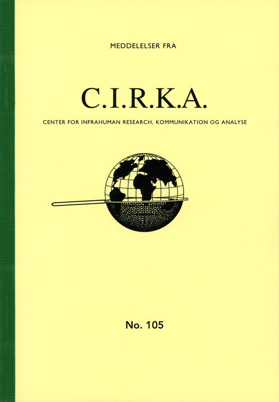 """Meddelelser fra C.I.R.K.A. No. 105, """"Si"""". Anders Visti, Lasse Krog Møller"""
