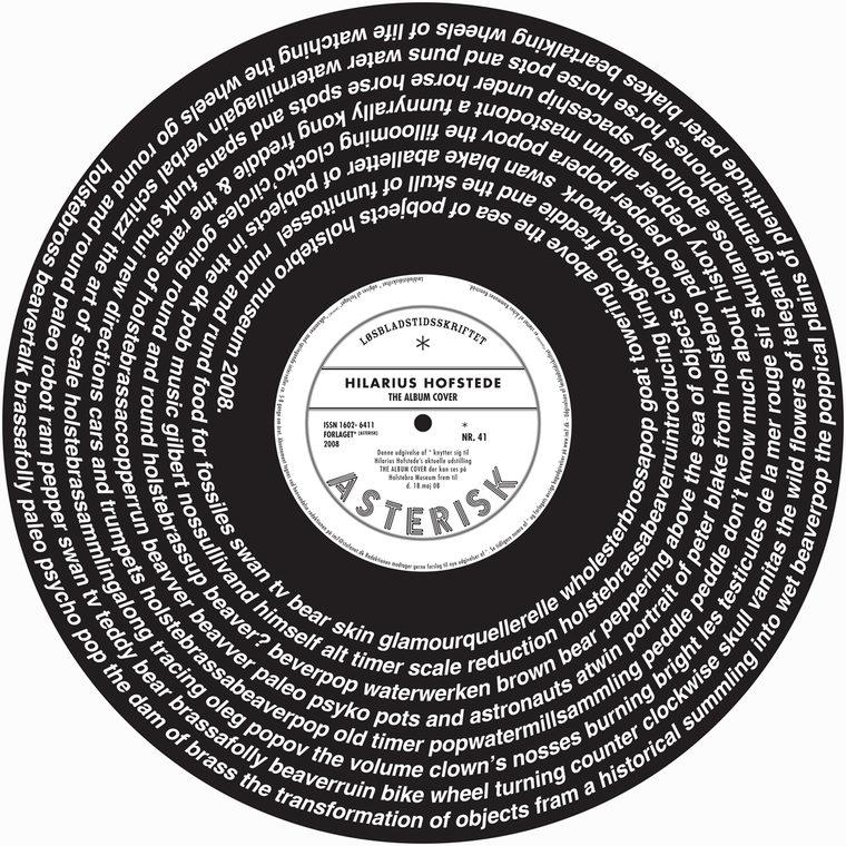 "* [asterisk] nr. 41, ""The Album Cover"". Hilarius Hofstede"